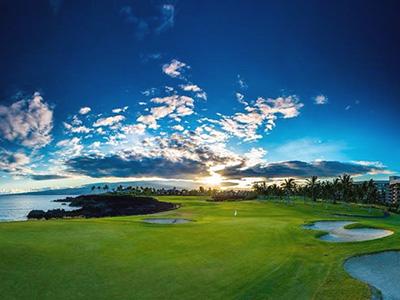 ワイコロアビーチゴルフ ビーチコース(ハワイ島)...
