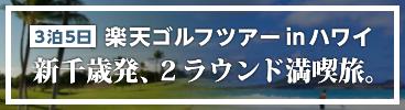 ハワイでゴルフ!新千歳発